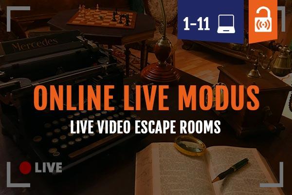 Online Live Video Escape Room im Remote Modus erleben